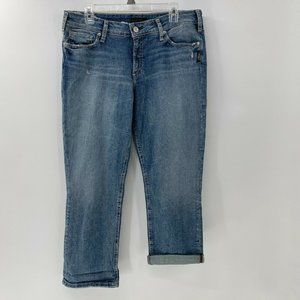Silver suki capri jeans mid rise sz 33 New